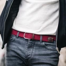 Elastic woven belt  Burgundy