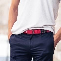 Elastic woven belt  Watermelon Red