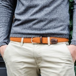 Elastic woven belt  Clay