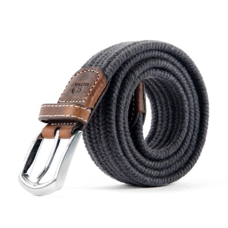 ceinture tressée laine gris homme