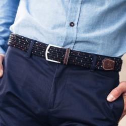 Elastic woven belt  The Club Black Pepper