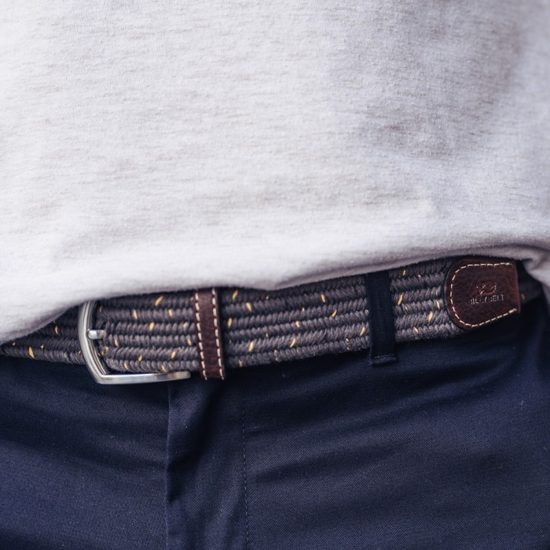 Elastic woven belt  The Club Lemon Grey