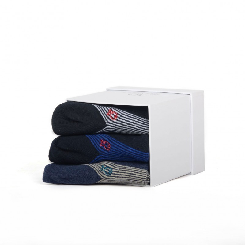 Trio de chaussettes basses homme - socquettes