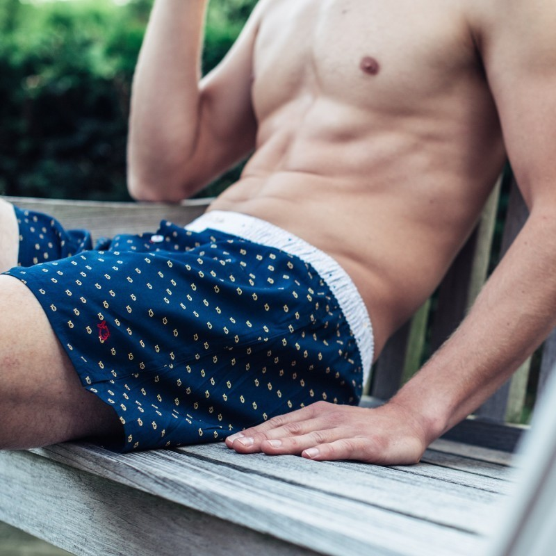 Organic cotton boxer shorts  Billy Navy
