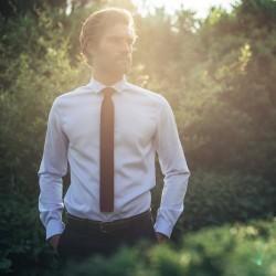 Cravate tricot  Bordeaux et bleu