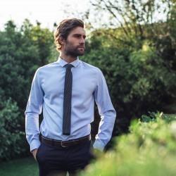 Cravate tricot   Marine et blanc
