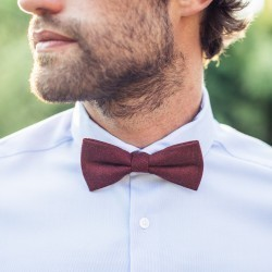 Wool bow tie  Burgundy / Red