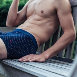 Organic cotton boxer briefs  Navy Sail