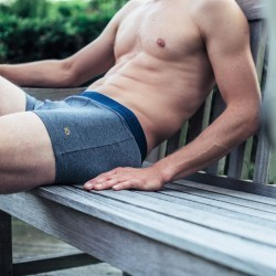 Organic cotton boxer briefs  Mottled Grey