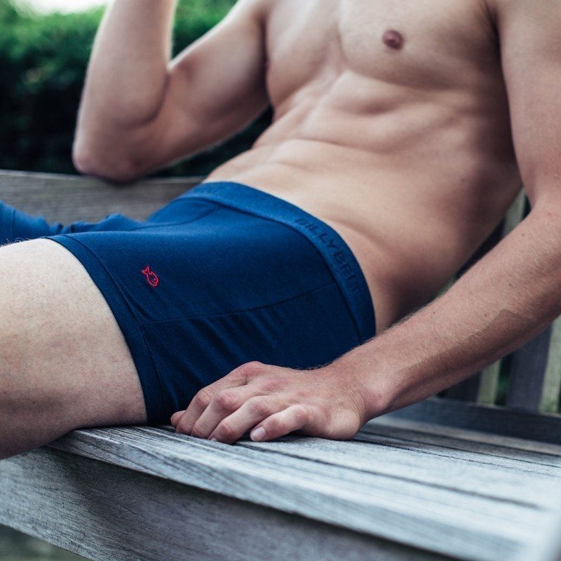 Boxer coton bio  Bleu Marine