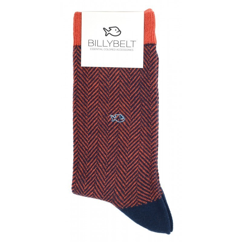 Cotton socks  Brick Herringbone