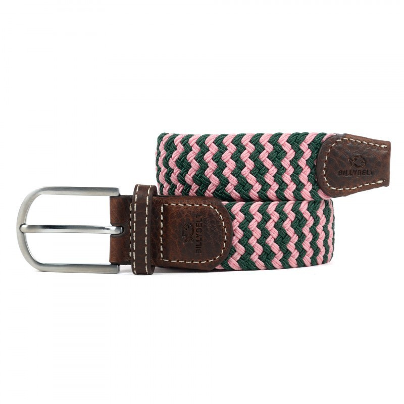The Berlin pink braided belt