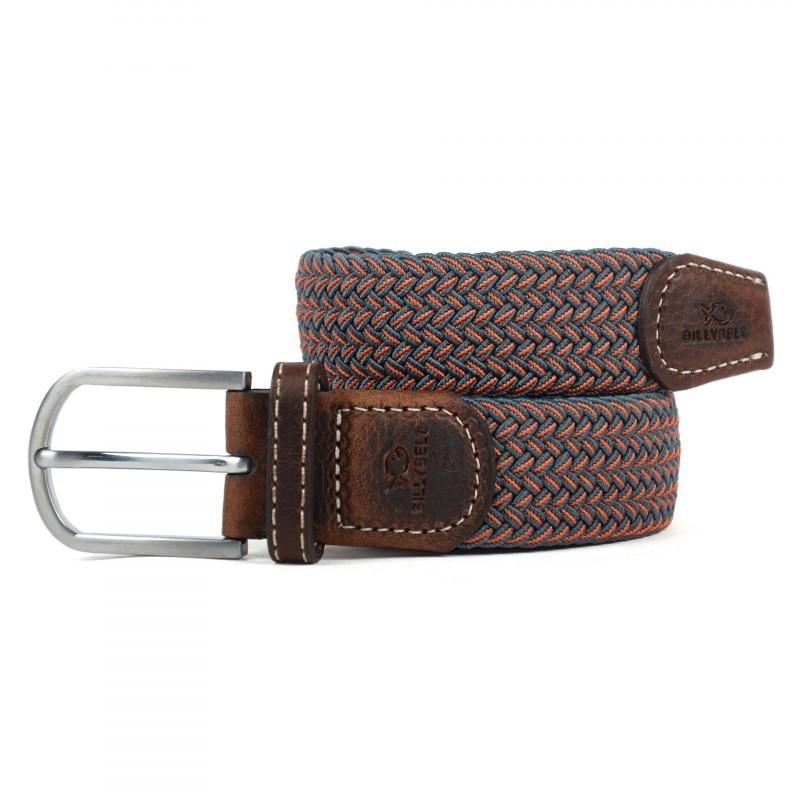 The Seattle orange braided belt