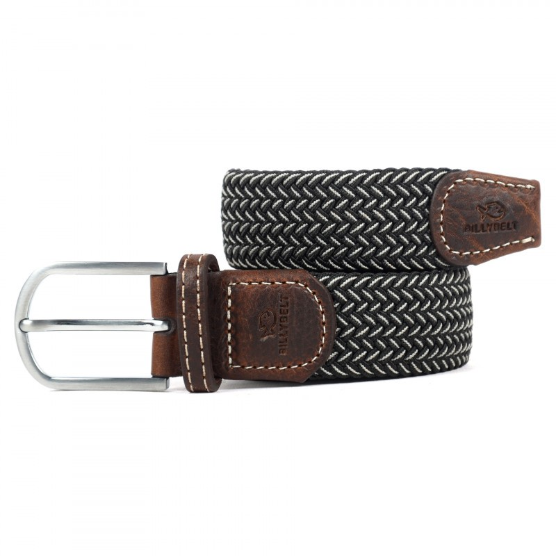 Black and white woven belt