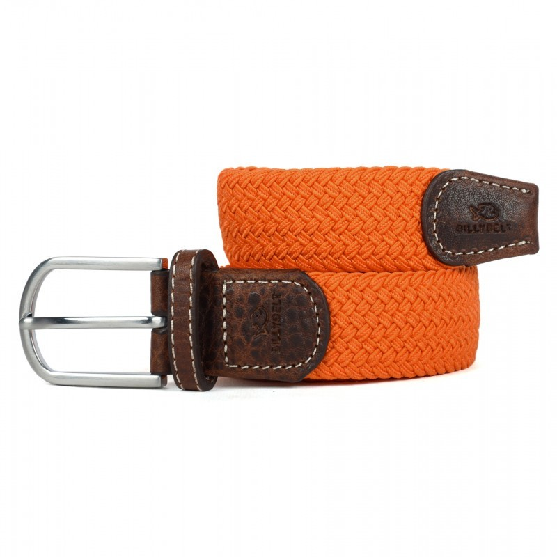 Orange Braided Belt