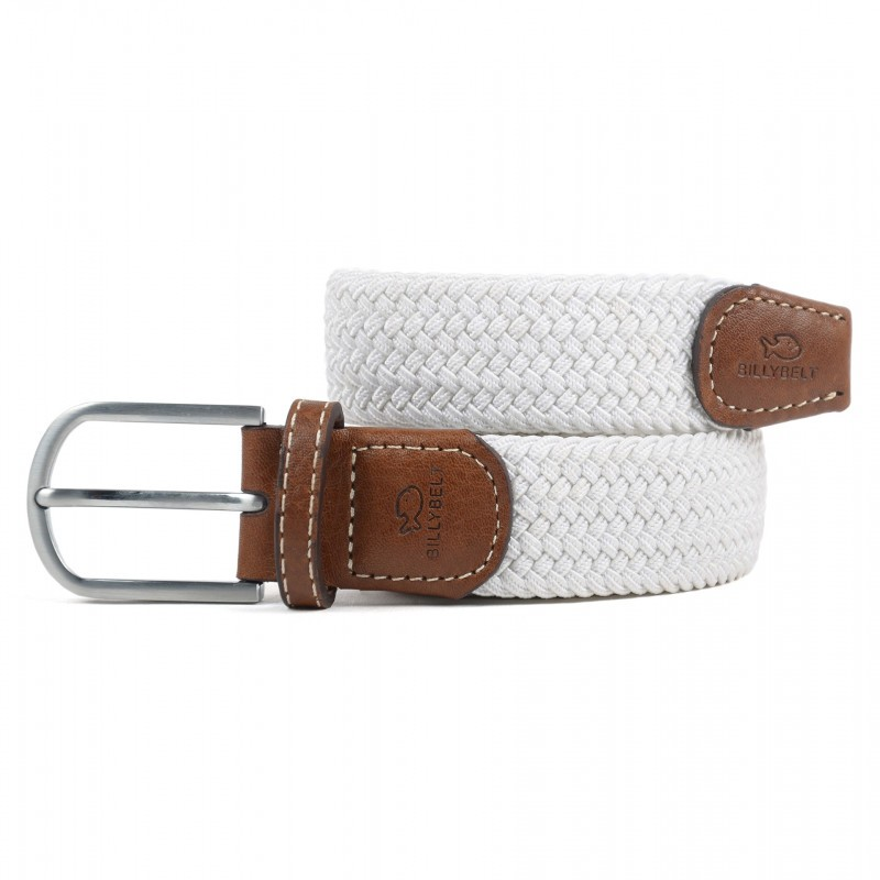 White Braided Belt