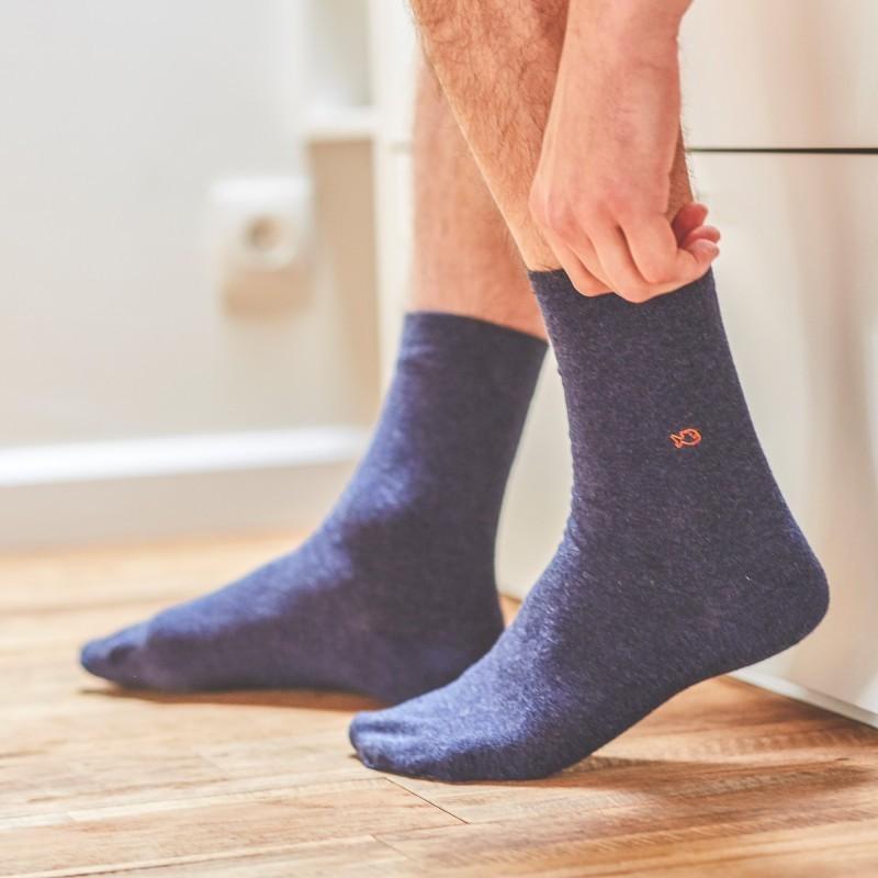 Cotton socks  Mottled blue