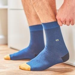 Chaussettes coton  Rayée Marine