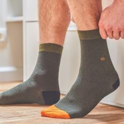 Cotton socks  Khaki Striped