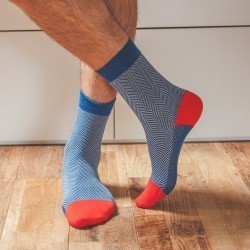 Cotton socks  Air Force Herringbone