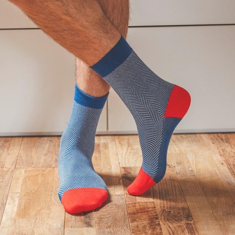 Cotton socks  Air Force Herringbone