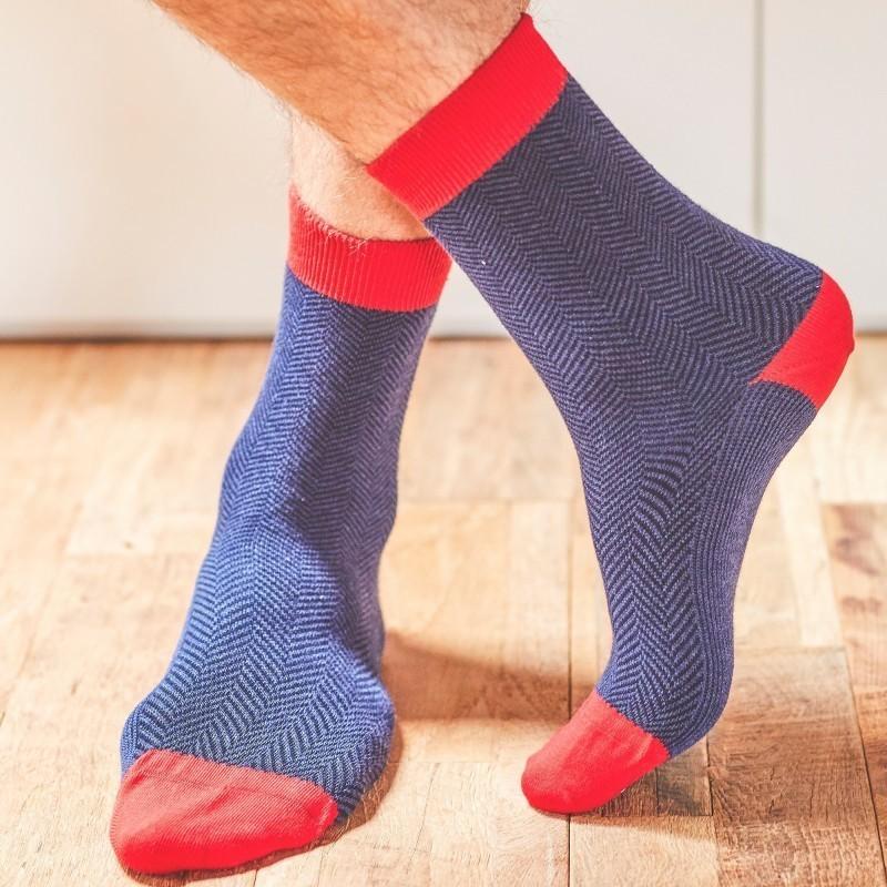 Cotton socks  Night Herringbone