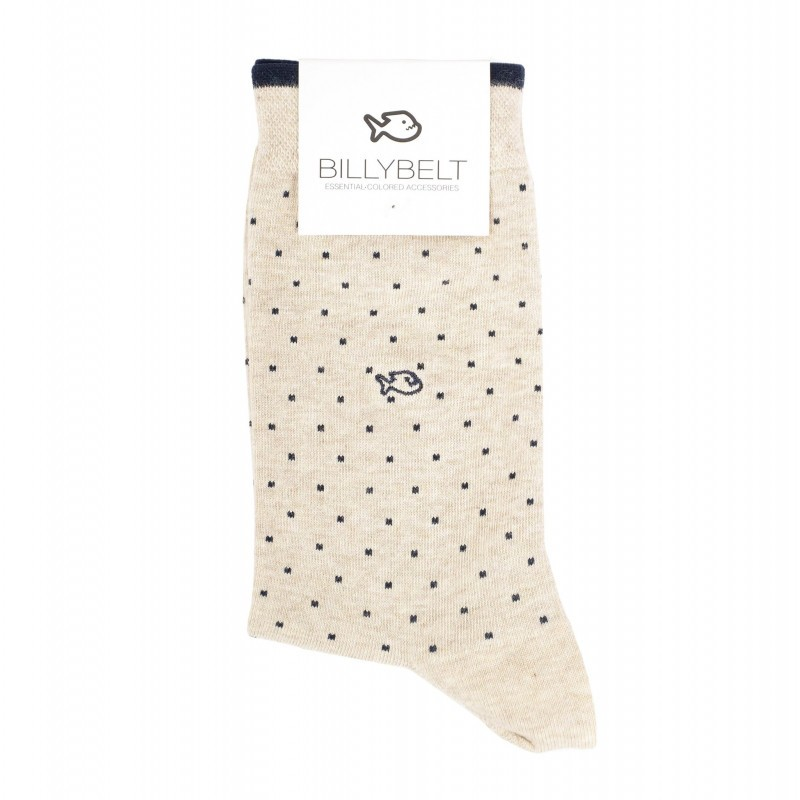 beige cotton socks man