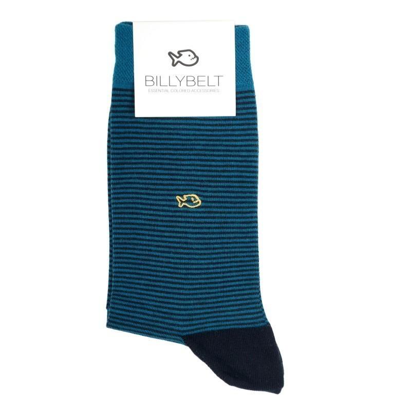 Men Socks blue Striped