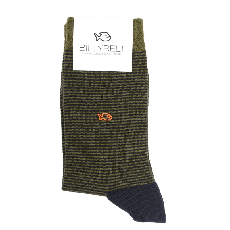 Men Socks green Striped