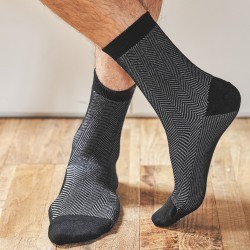 Cotton socks  Beige Herringbone