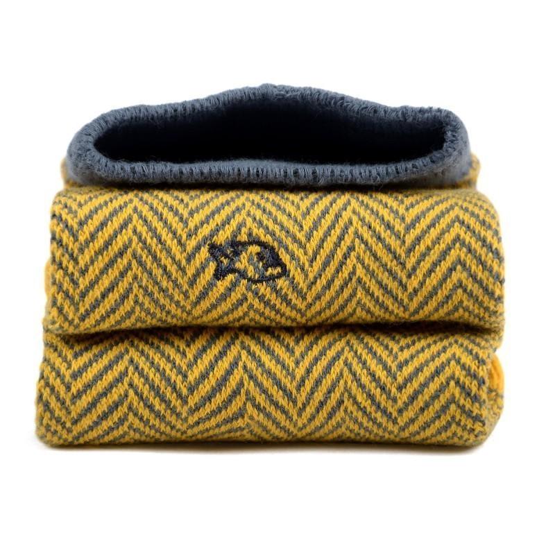 Snazzy socks men - herringbone socks yellow