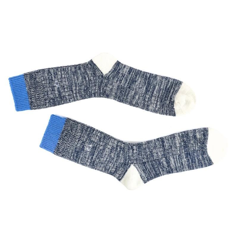 Chaussettes épaisses gris et bleu