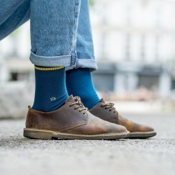 Pique knit socks  Blue Duck and Yellow