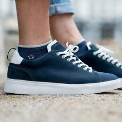 Cotton ankle socks  Mottled blue
