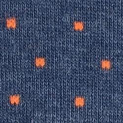 Socquettes coton  Bleu Chiné Square