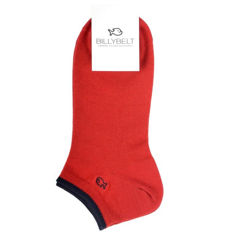 socquettes homme rouge