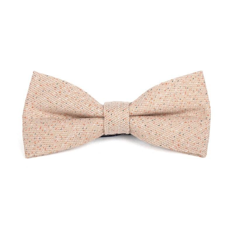 beige wool bow tie