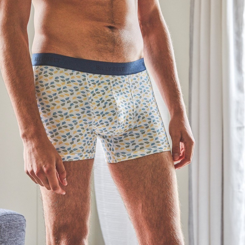 Organic cotton boxer briefs  White Leaf