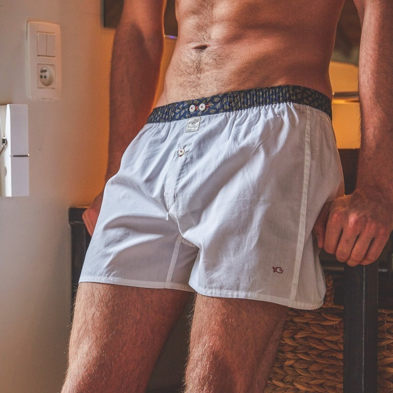 Organic cotton boxer shorts  Pure White