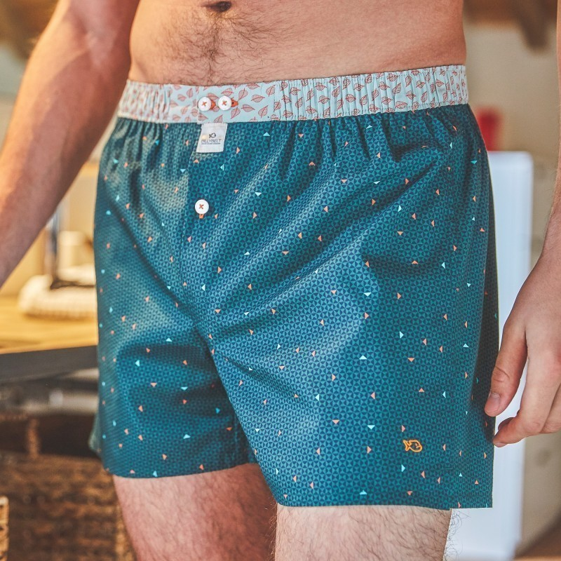 Organic cotton boxer shorts  Green Illusion