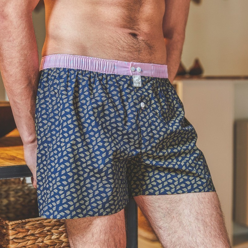 Organic cotton boxer shorts  Blue Jungle