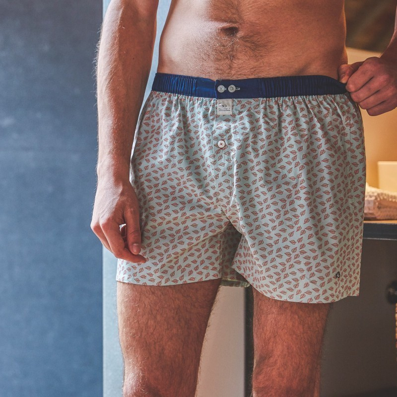 Organic cotton boxer shorts  Green Jungle