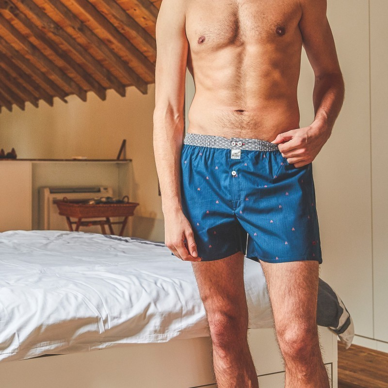 Organic cotton boxer shorts  Red Pyramid