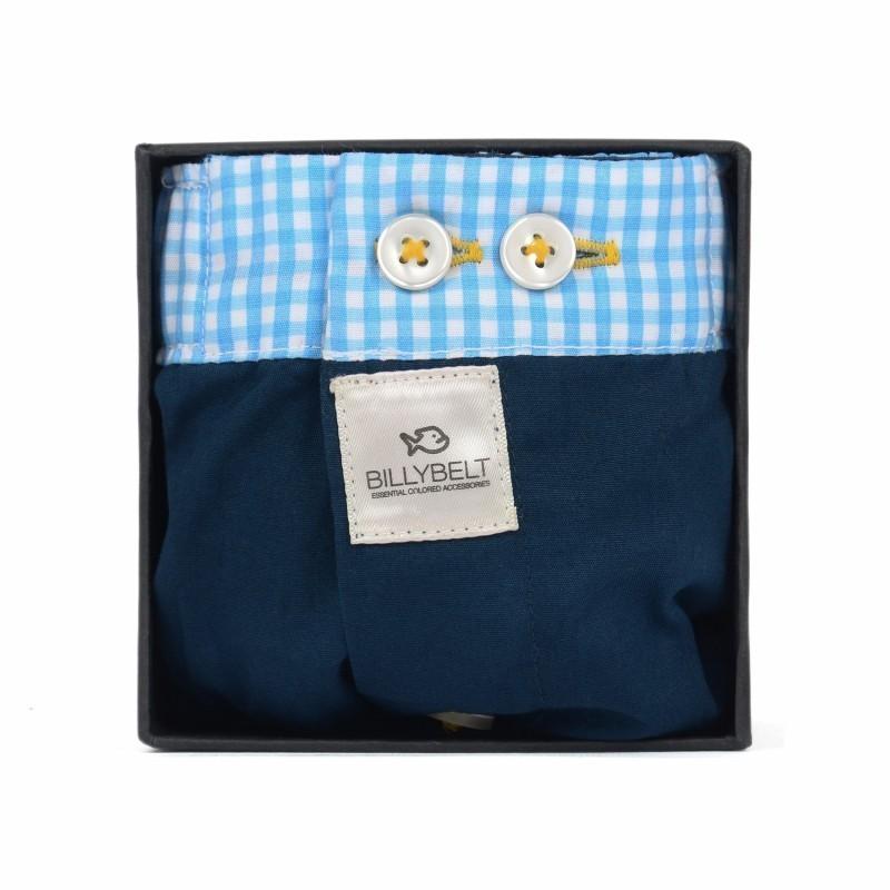 Caleçon coton bio Homme Bleu