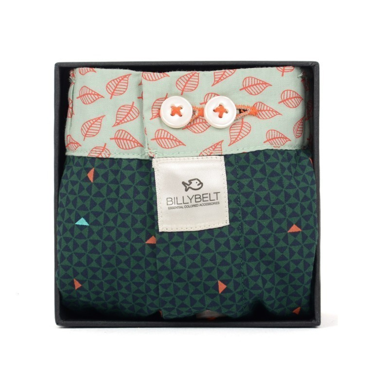 Green men organic cotton boxer shorts