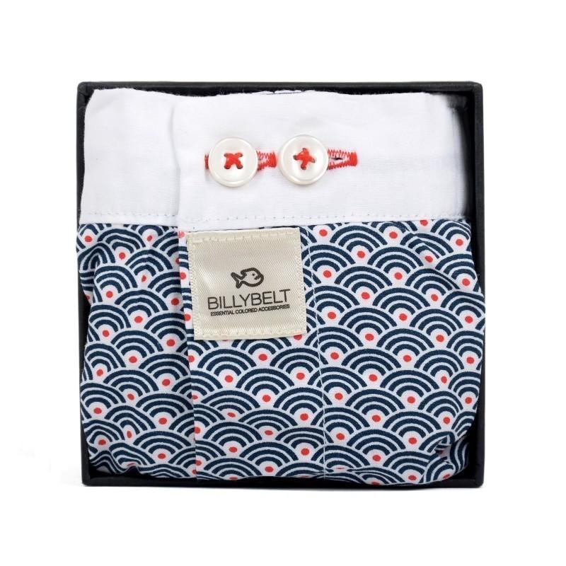 Caleçon coton bio Homme motif japonais