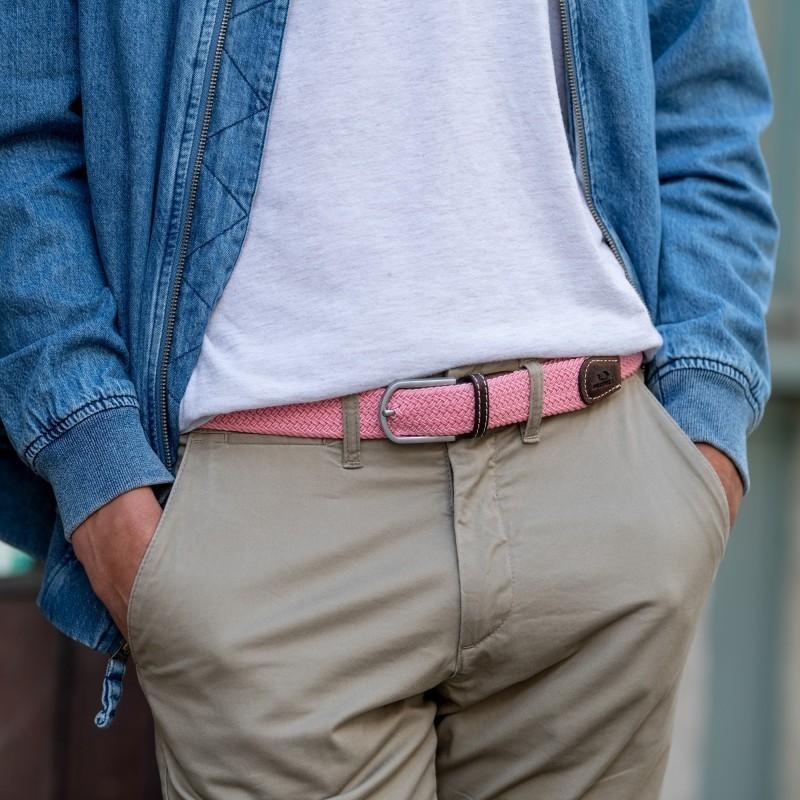 Elastic woven belt  Pink