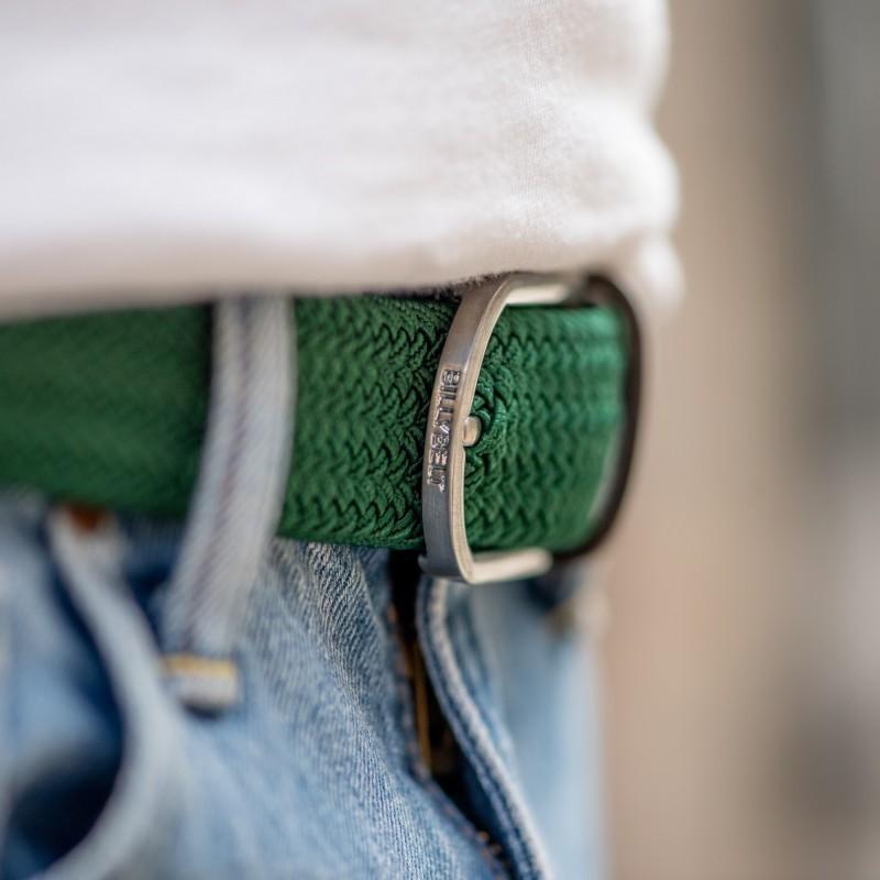 Elastic woven belt  Imperial Green
