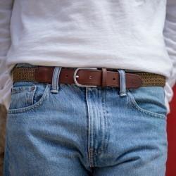 Leather belt elastic weave  The Trendy Porto Rico