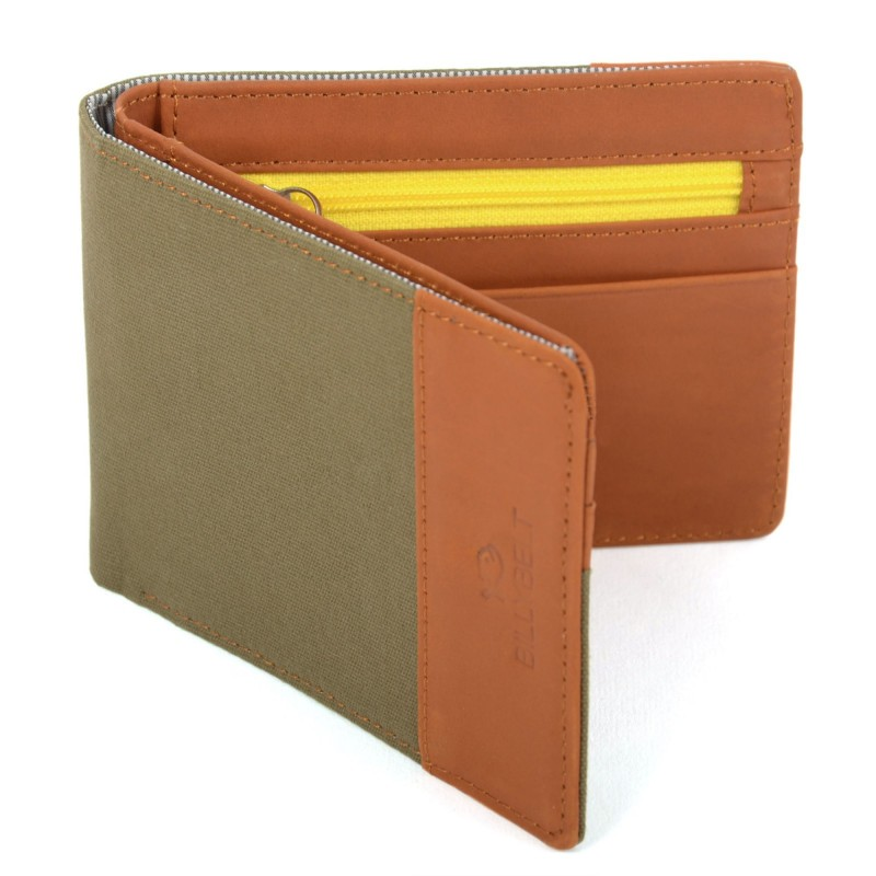 Leather wallet Khaki Green